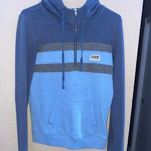 PINK brand quarter zip hoodie